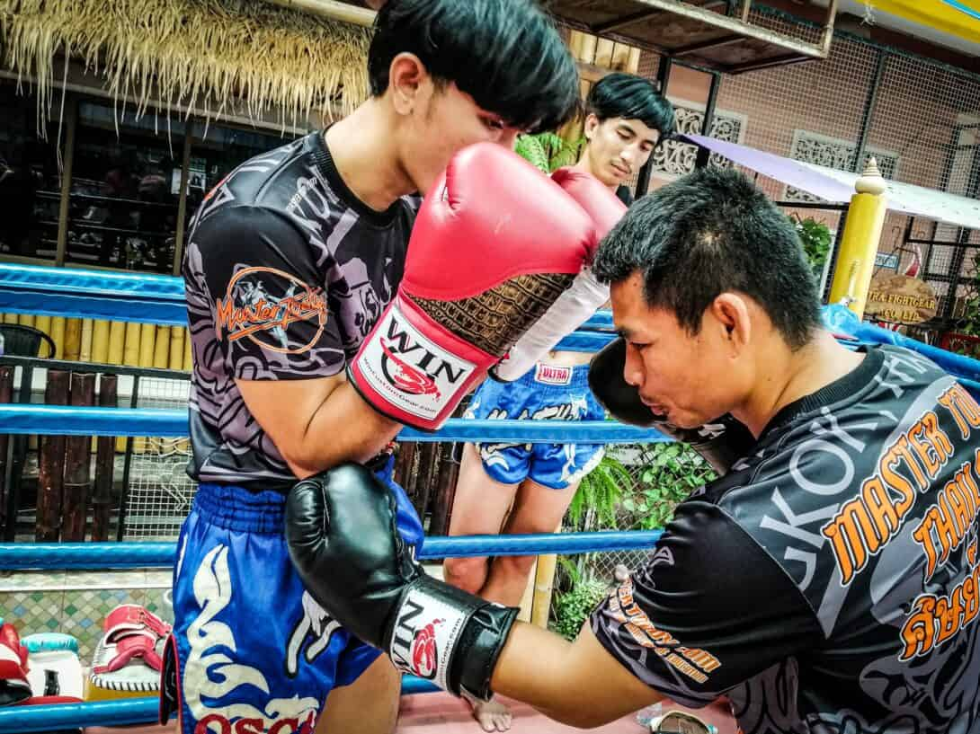 Professional Muay Thai Fighter, Wanheng Menayothin, hones his skills at Master Toddy's.