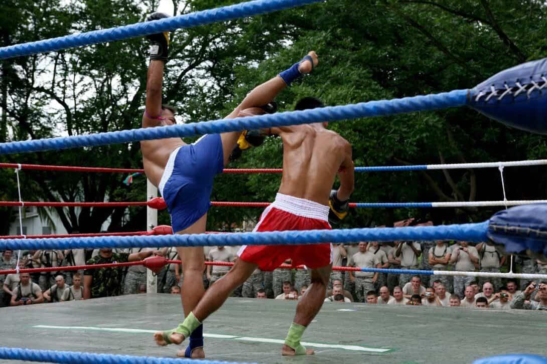 Muay Thai ring outside