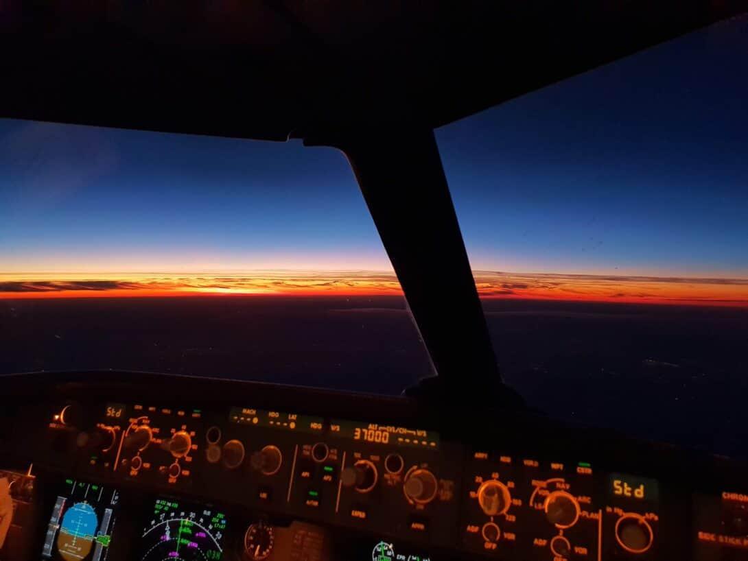 Cockpit of aeroplane