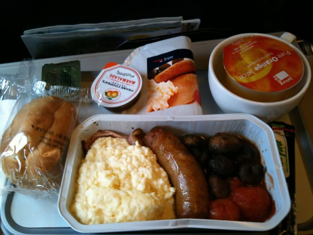 Inflight breakfast on BA flight
