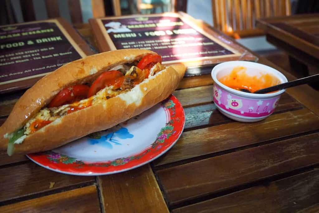 Banh Mi in restaurant