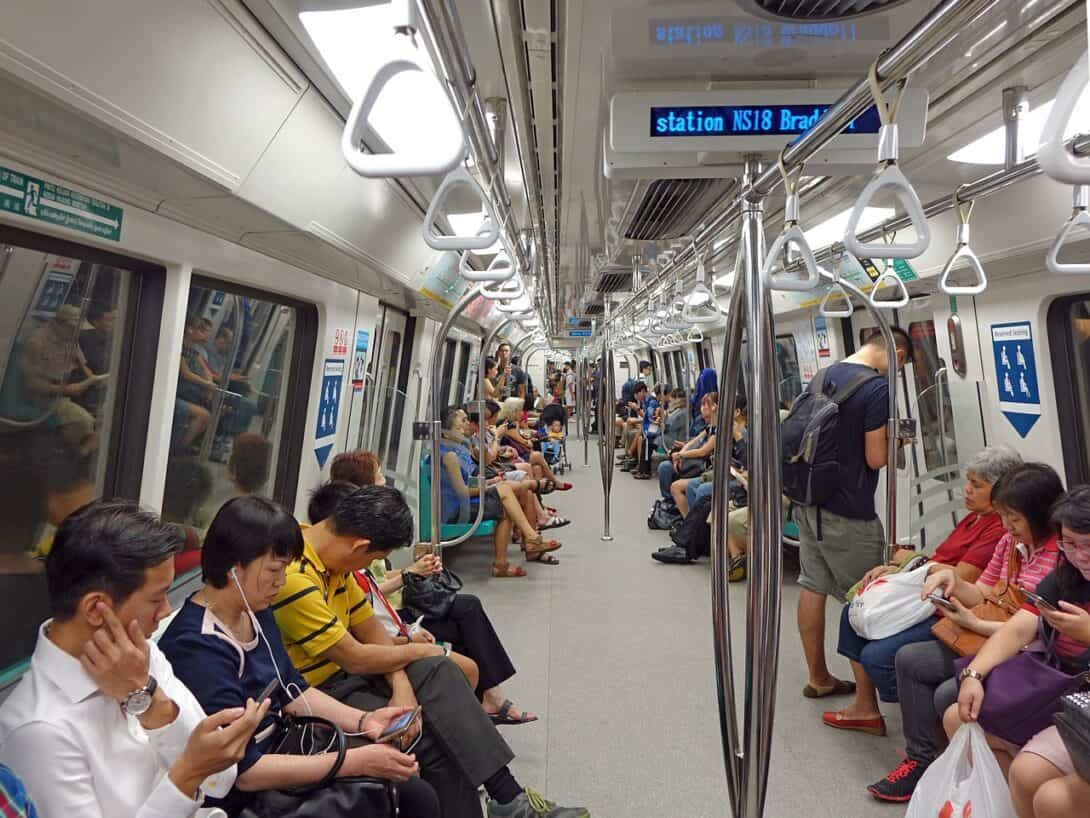MRT carriage in Singapore