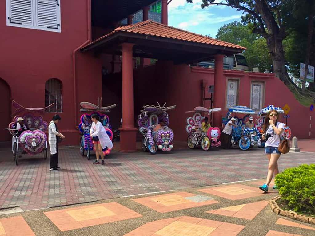 Trishaws in Melaka, Malaysia