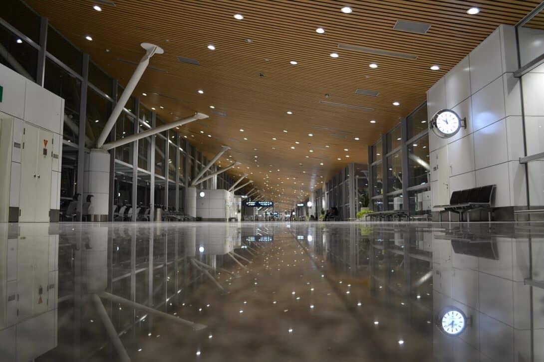 Airport departures at Kuala Lumpur airport