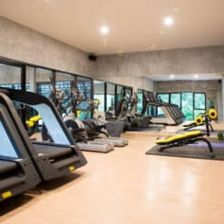 The clean Air-Con KohFit Gym, Koh Samui, Thailand.