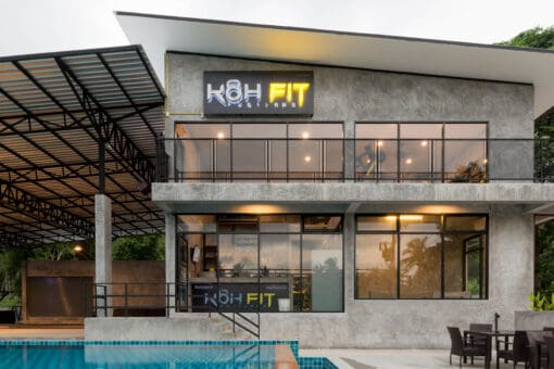 The plush KohFit Gym and Swimming Pool in Koh Samui, Thailand.