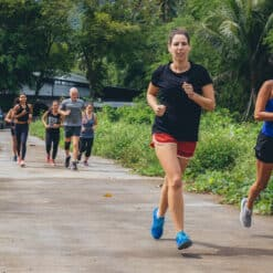 Going for a run around the island of Koh Samui.