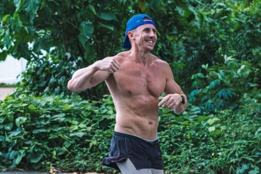 Running around Samui Island training.