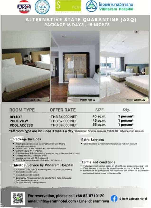 S Ram Leisure Hotel ASQ Package