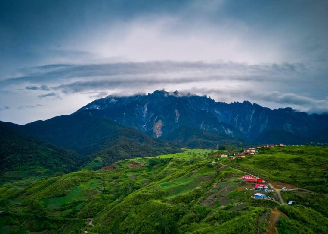 The landscape of Malaysian Borneo.