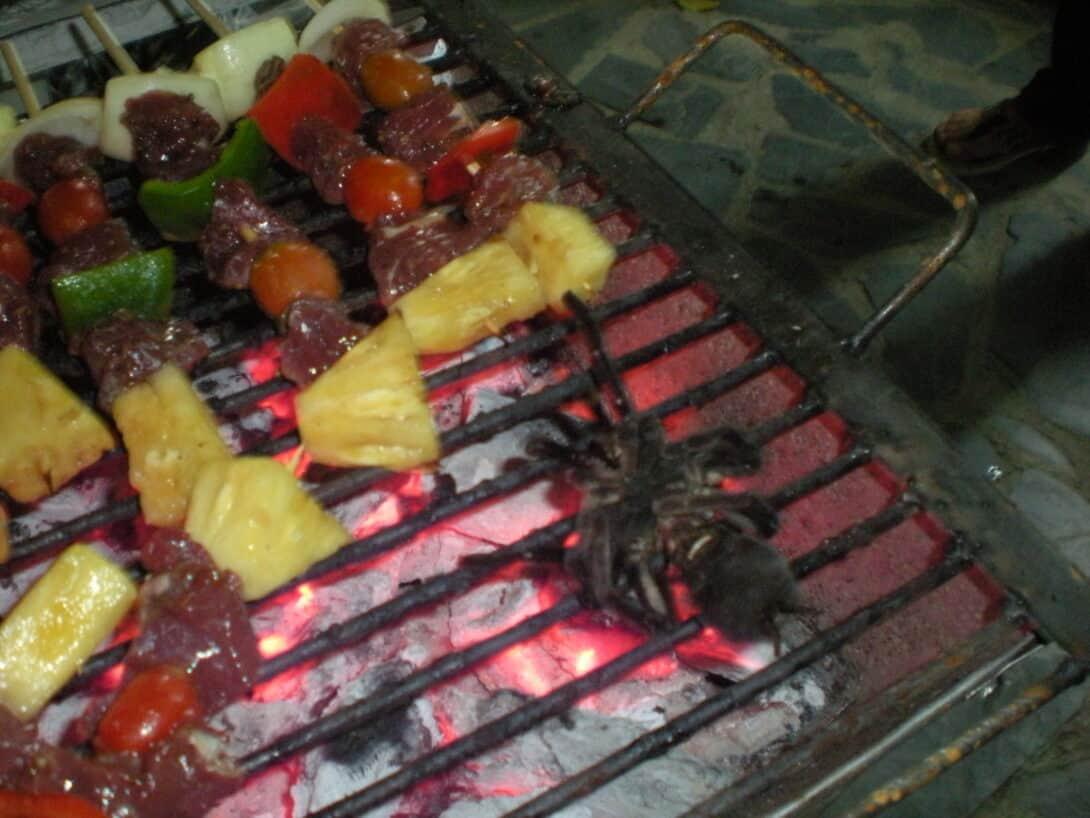 Tarantula on the barbecue!