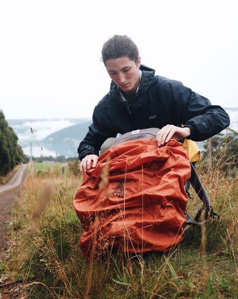 Putting Rain Cover On Salkan Backpacker