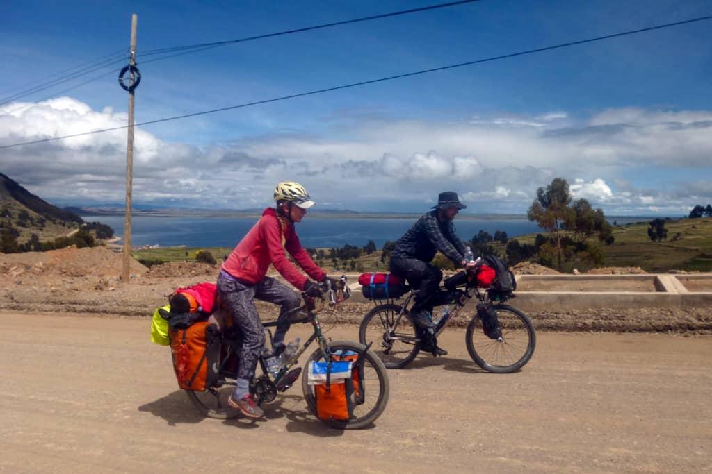 Cycling near Lake Titicaca