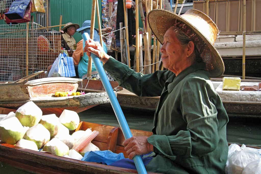 Vendor at Thai floating market