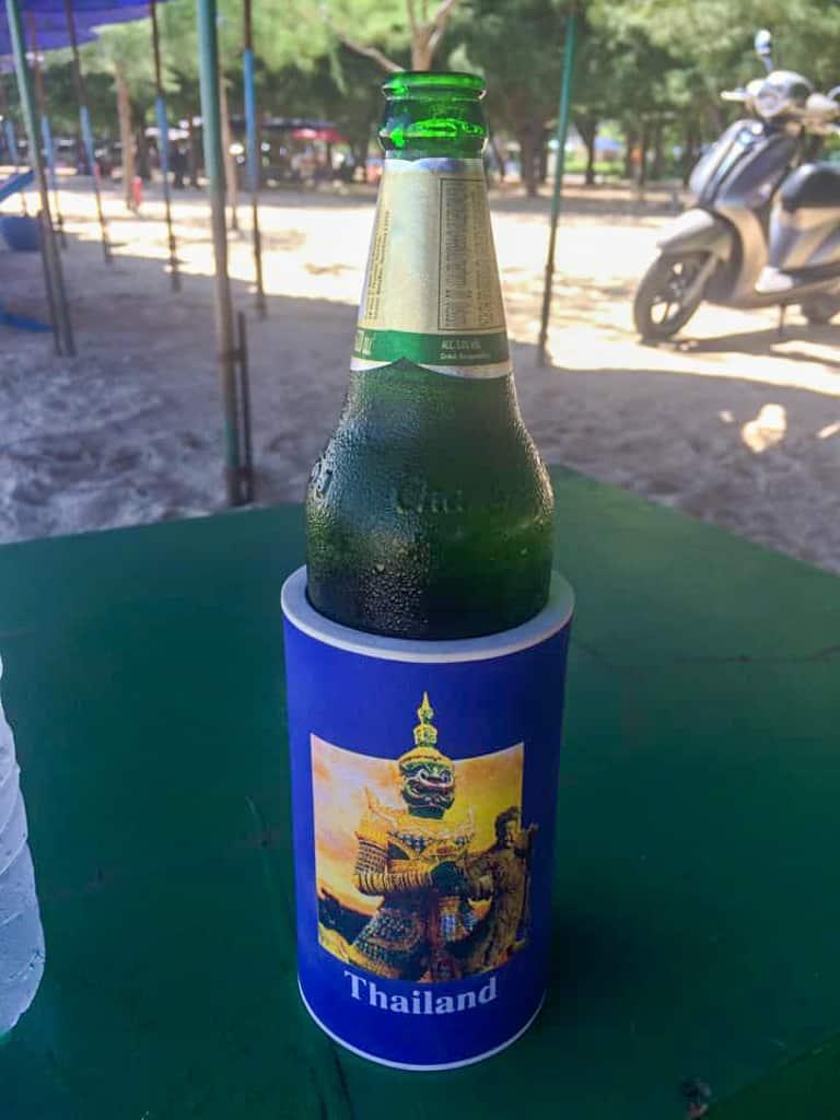 A Thai Beer Bottle Cooler