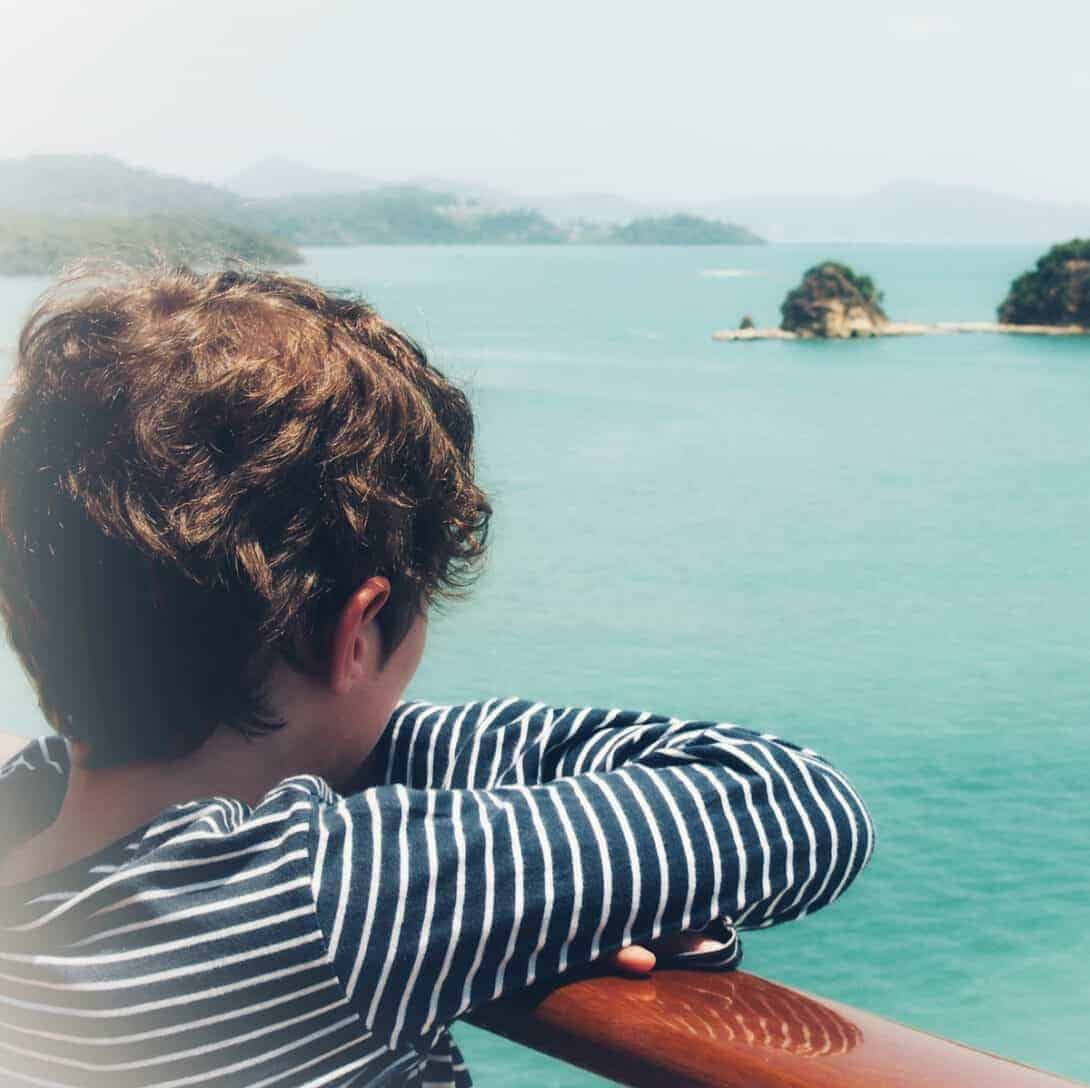 Child looking at sea in Langkawi
